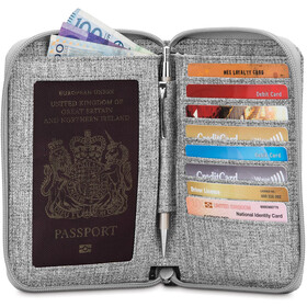 Pacsafe RFIDsafe LX150 Pochette zippée pour passeport, tweed grey